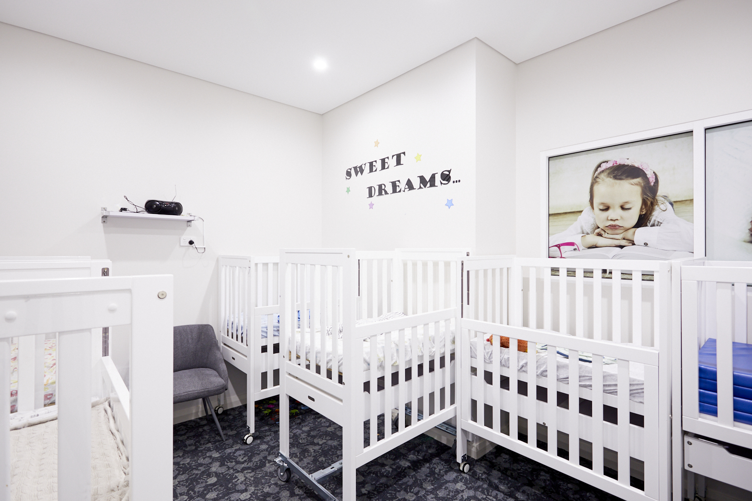Infant child care room at Papilio Rosebery